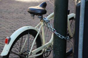 Fahrradschloss Test laterne