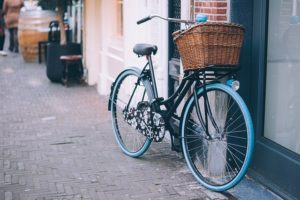 Fahrrad angeschlossen
